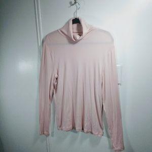 Soft Pink Ralph Lauren Green Label Turtleneck